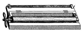 Mahogany cylinder in hinged box