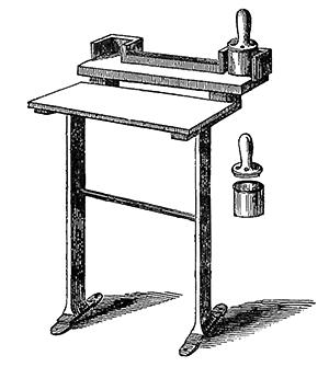 Foster's inking apparatus