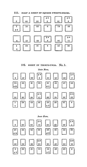 Half a sheet of square twenty-fours
