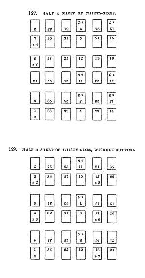 Half a sheet of thirty-sixes