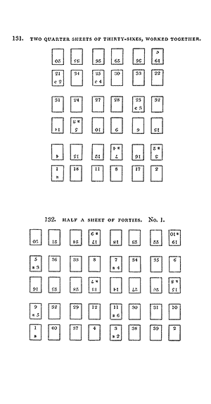 Two quarter sheet of thirty-sixes