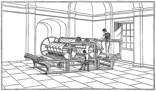 Cowper's machine for printing books