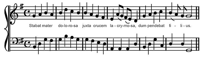 Stabat Mater in modern Notation