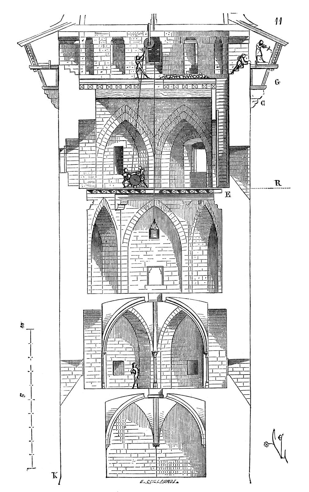 Coucy Tower on Medieval Castle Diagram