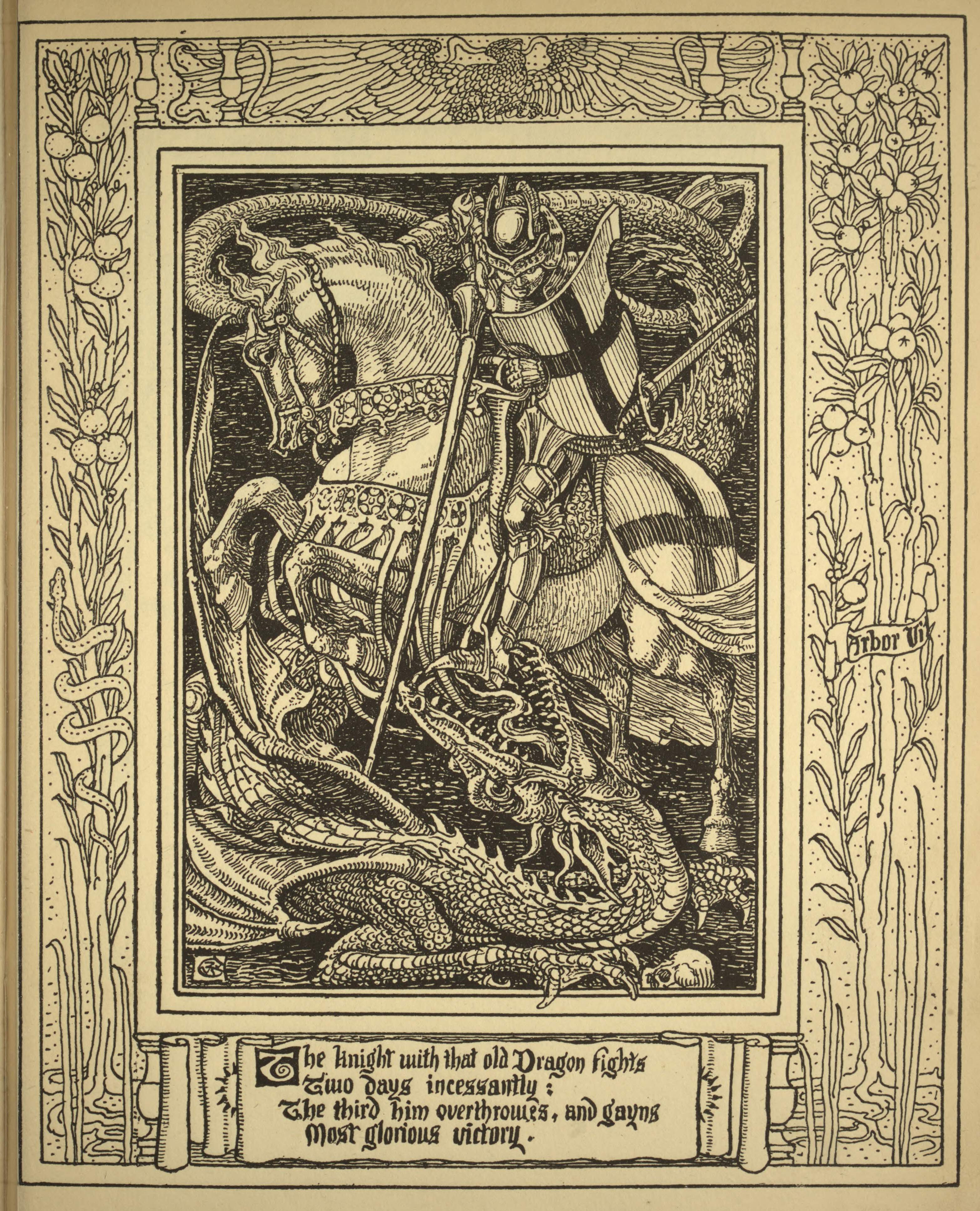That Old Dragon – Old Book Illustrations