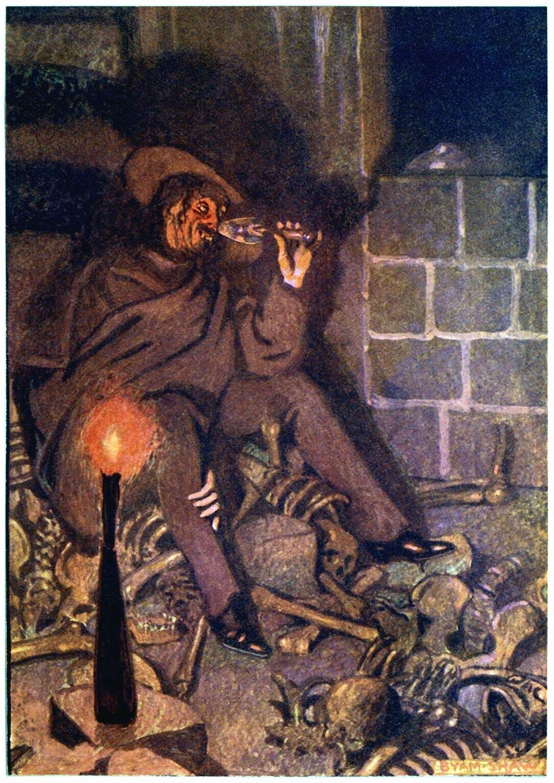 The Cask Of Amontillado Old Book Illustrations
