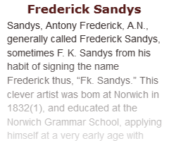Article on Frederick Sandys
