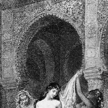 The bath of the fair Persian