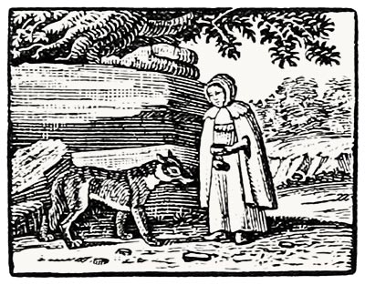 Example of Bewick's early work as an apprentice: History of Little Riding Hood, 1777