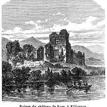 Ruins of Ross Castle in Killarney on the shore of Lough Leane