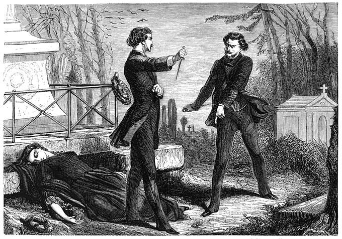 Arguing between the tombs