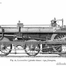 Crampton steam locomotive