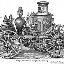 Amoskeag steam-powered fire engine