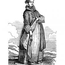 Icelandic Woman in Traditional Dress
