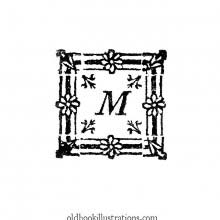Initial letter, M