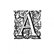 Initial letter, A