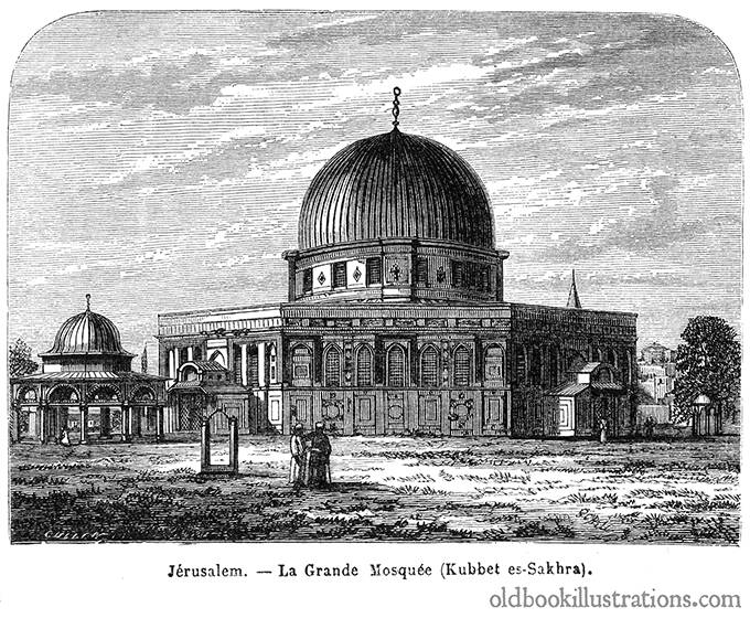 Dome of the Rock, Jerusalem | Old Book Illustrations