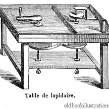 Lapidary table