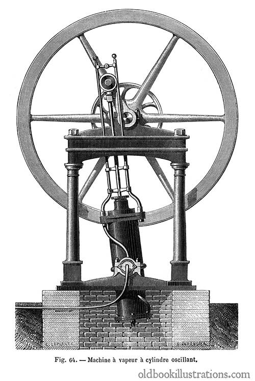 Oscillating steam engine