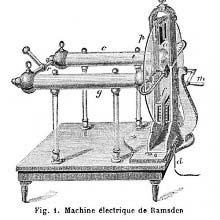 Ramsden friction machine