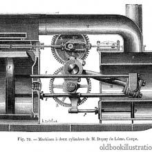 Two-cylinder steam engine
