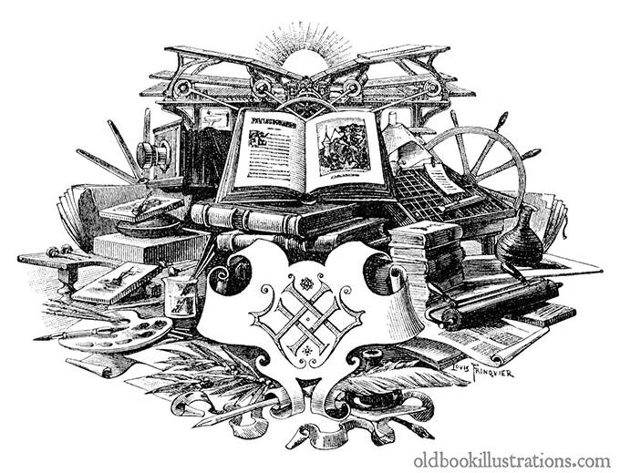 Title Illustration From Nouveau Dictionnaire Encyclopedique Universel Illustre