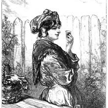 Woman holding a glass