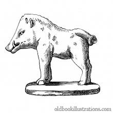 Gallo-Roman Statuette of a Boar