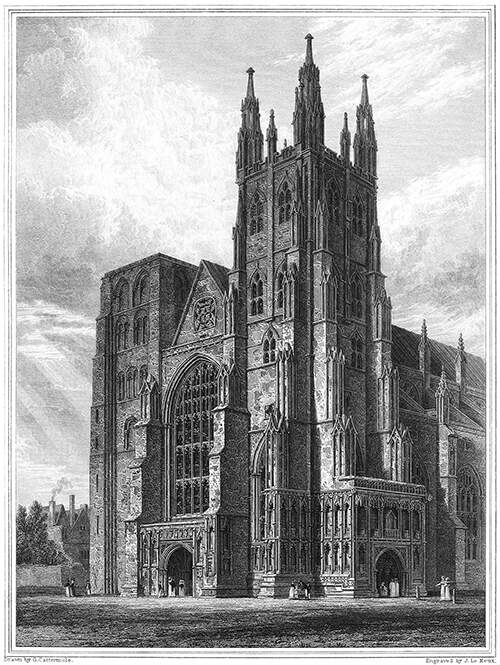 Canterbury Cathedral, the Western Towers