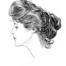 Gibson girl's profile