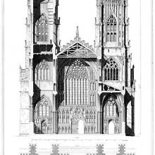 York Cathedral, Elevation and Section