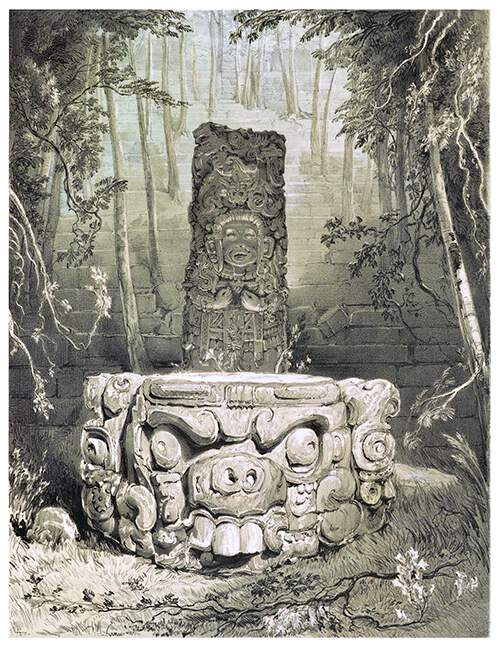 Idol and altar at Copan