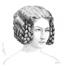 Hairstyle in fashion around 1330