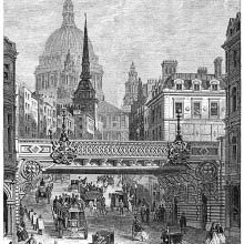Railway bridge across Ludgate Hill