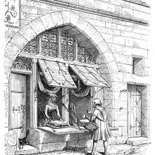 A shop in Paris between the twelfth and fourteenth century