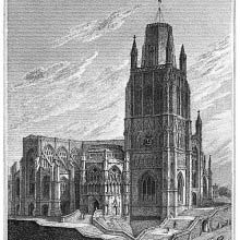 Northwest view of St Mary Redcliffe