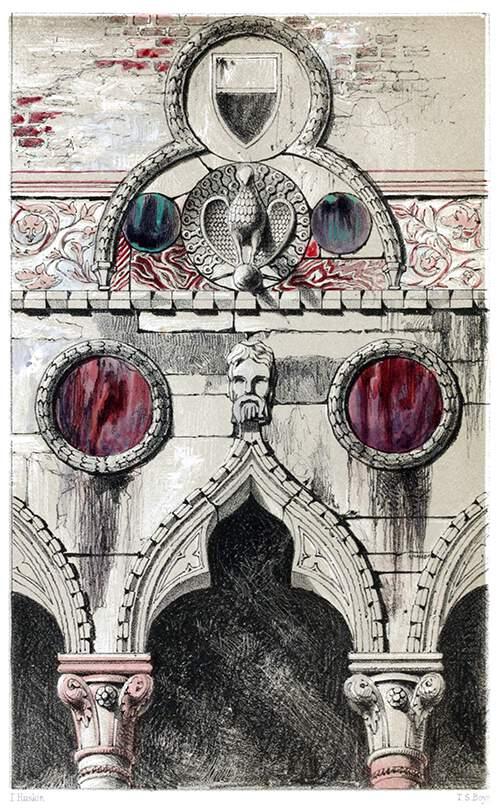 Decoration by disks; Palazzo dei Badoari Partecipazzi.