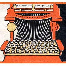 Cover illustration for The Enchanted Typewriter