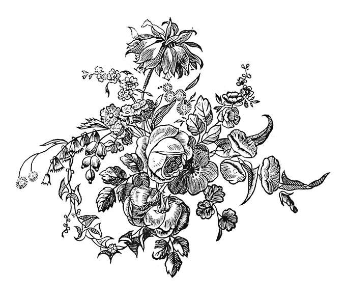 Ornamental flower arrangement