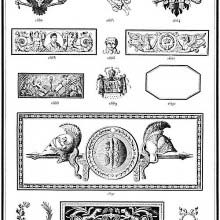 Ornaments 1682 to 1695 from Gillé's 1808 catalog