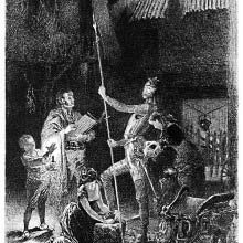 Don Quixote knighted