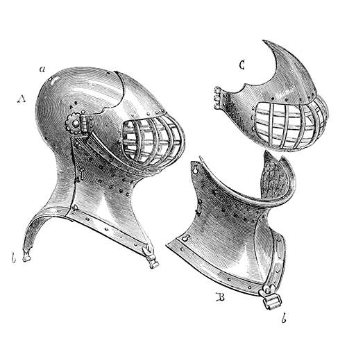 Fifteenth-century bascinet for tournament use