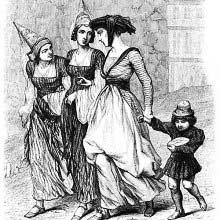 Three women and child