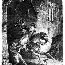 Esmeralda set free by Phœbus