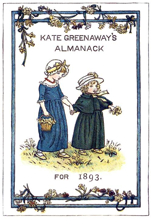 Cover for Kate Greenaway's almanac for 1893