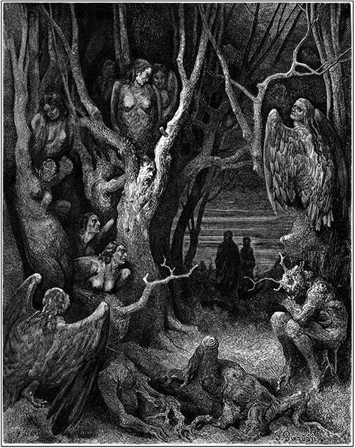 Here the brute harpies make their nest