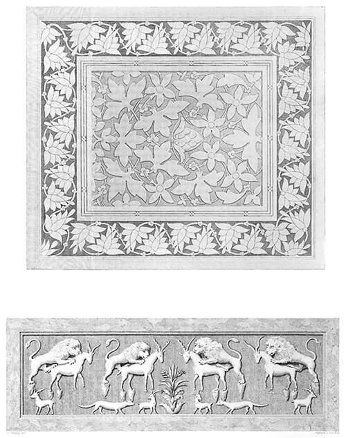 Panel ornament and arabesque