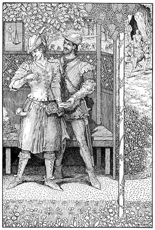 Robin Hood and Marian in their Bower