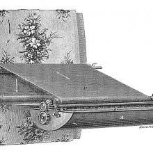 Detail of Wallpaper printing machine