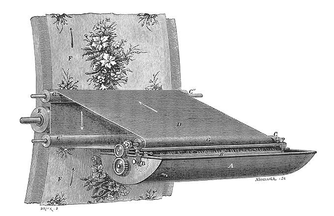 Detail of Wallpaper printing machine
